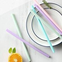 7*180 мм без запаха пищевой безопасный прямой Красочный прозрачный многоразовый силикон соломинка для коктейлей соломы