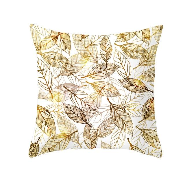 Golden Print Pillow Case 6