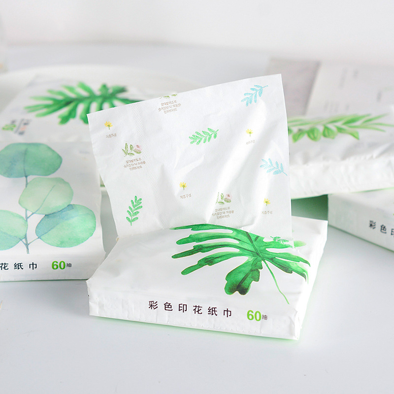 Paper Tim Spent Plant Printed Paper Extraction Cartoon Napkin Three Layer Thick Manufacturers Direct Selling Wholesale Can Be A