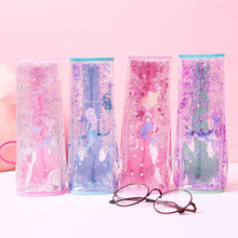 Creative quicksand milk styling pencil bag three-dimensional large capacity pocket student gift stationery box
