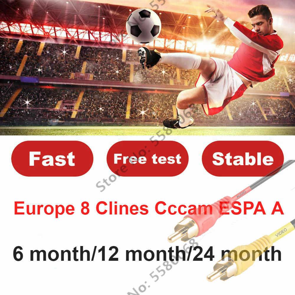 ยุโรป HD cccam 7-8 cline บัญชี 1 ปีฟรีอิตาลีสเปนโปรตุเกสเนเธอร์แลนด์ freesat V8V9 super cccam