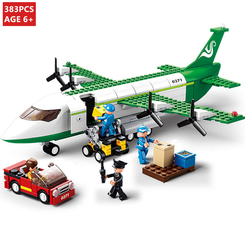 463PCS City Cargo Plane Airport Airbus Airplane Building Blocks Figures Toys
