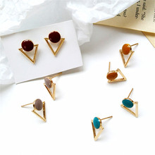 European and American fashion jewelry earrings female temperament geometric triangle pendant popular women