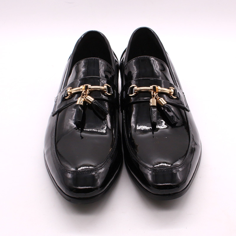 Image 2 - FELIX CHU Luxury Mens Dress Loafer Shoes Golden Metal Tassel 