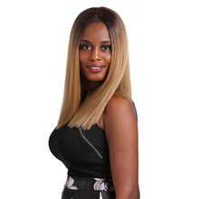 Ombre Blonde Red Synthetic Lace Front Wigs For Black Women SOKU 14Inch Yaki Straight Middle Part Short Bob Lace Front Wig все цены