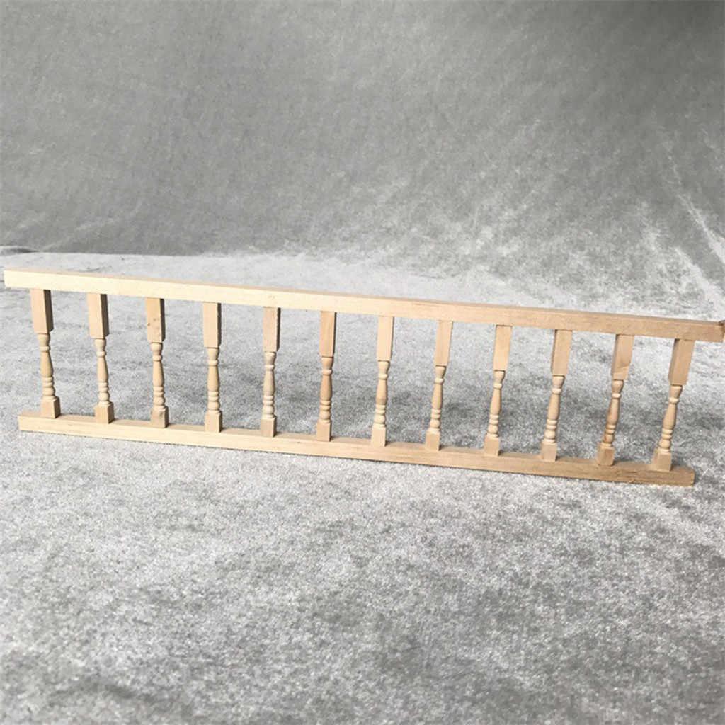 2 Pack Miniatur Pagar Pegangan 1:12 Mini Rumah Boneka Adegan Model Simulasi Rumah Lucu Mini Pagar Rumah Boneka Aksesoris # G4