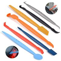 7PCS Car Tinting Window Tint Tool Set Magnetic Squeegee Scraper Vinyl Car Wrap Carbon Fiber Film Sticker Wrapping Tools