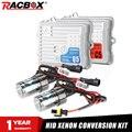 Ксеноновый комплект RACBOX 12 В переменного тока 55 Вт, без ошибок, CAN-шина или Быстрый Яркий быстрый запуск, HID, H1 H3 H7 H8 H9 H11 9005 9006 с балластом Canbus