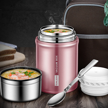 Stainless Steel Thermoses Food Flask Lunch Vacuum Bottle with Folding Spoon Jar Insulated Containers