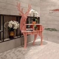 Creative Bookshelf Display Cabinet Exhibition Shelf Simple Modern Horse Shape Bookcase Floor Ornament Decoration Window Prop