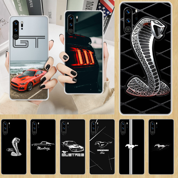 Car Logo Fords Mustang GT Phone Case hull For HUAWEI p 8 9 10 20 30 40 smart Lite 2017 19 Pro Z transparent bumper 3D waterproof image