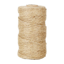 100M/Roll Best Arts Rope Durable DIY Strings Lights Craft Twine For Gardening Applications Natural Jute(China)