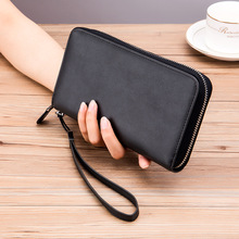New Vintage Long Wallet for Women Men Genuine Leather Clutch Bag Zipper Card Holder Phone Pouch Cowhide Coin Purse