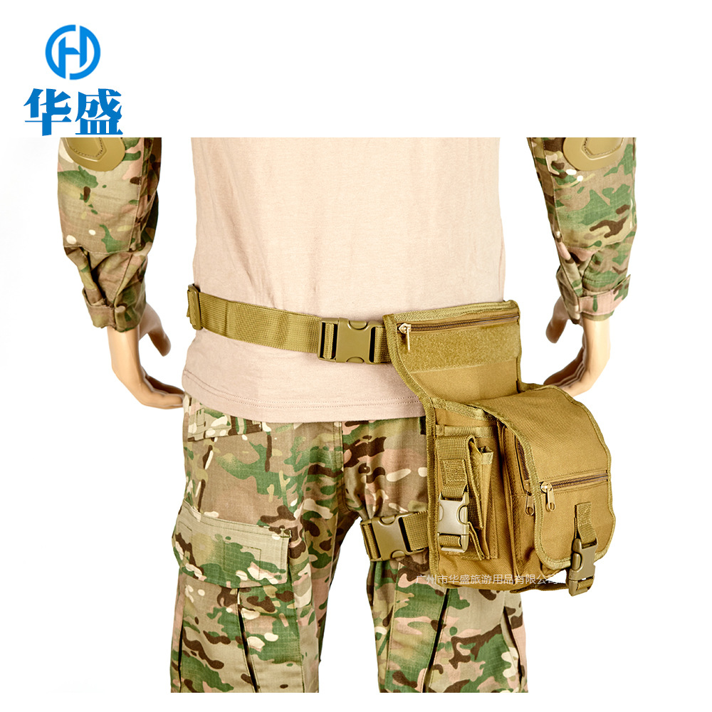 Cross Border For Multi-functional CS Tactical Leg Oxford Cloth Sports Waist Pack Outdoor Army Fans Shoulder Bag With Pack