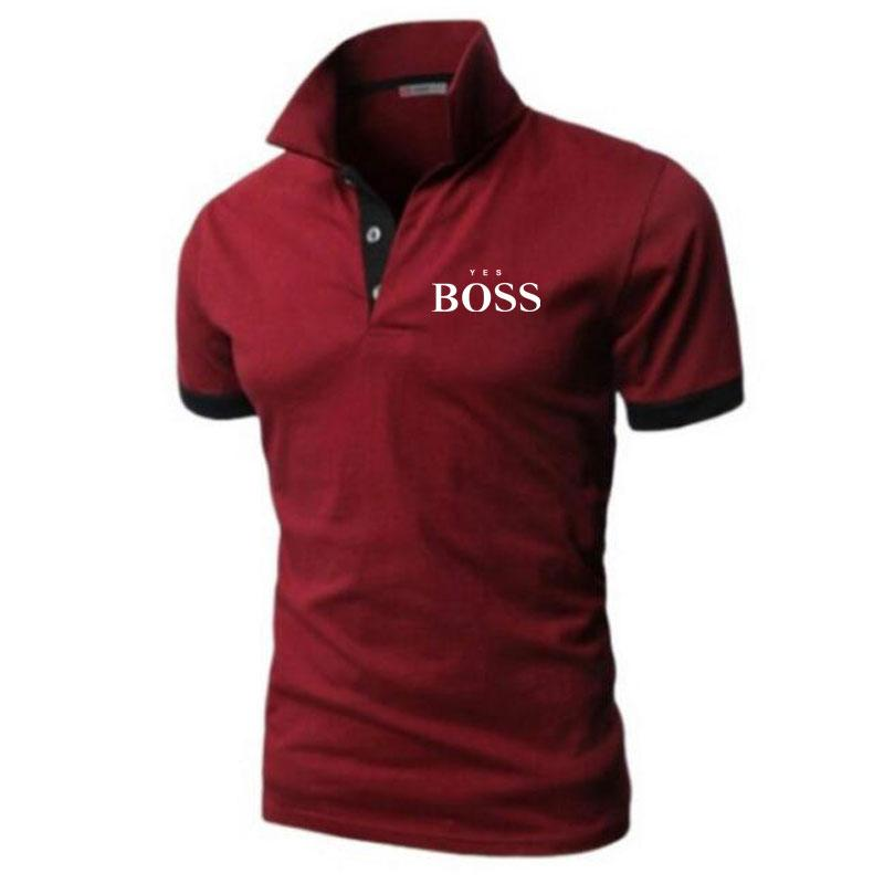 New Yes Boss Men's Polo Shirt Short Sleeve T-shirt Breathable Camisa Masculina Hombre Jersey Golftennis Men's Top Plus Size 5XL