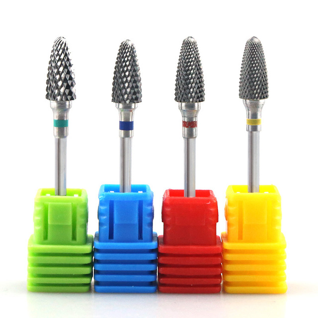 28 Types Rainbow Tungsten Carbide Nail Drill Bit Ceramic Electric Nail Mills Cutter for Manicure Machine Nail Files Accessories 2