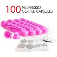 Café espresso rico diy das tampas da folha de alumínio do pod da cápsula do selo das folhas Filtros de café     -