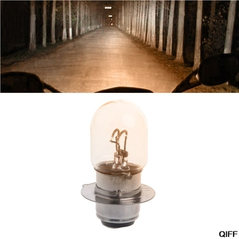 T19 P15D-25-1 DC 12V 35W Warm White Headlight Double Filament Bulb For Motorcycle May06 image