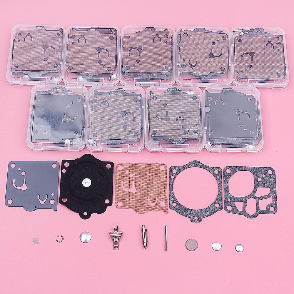 10pcs/lot Carburetor Repair Kit For Husqvarna P 42 T, 2077, 394, 61P, 700, A 55, F 55, F 65, P 42 , P 52, P 62, P650, P 7000