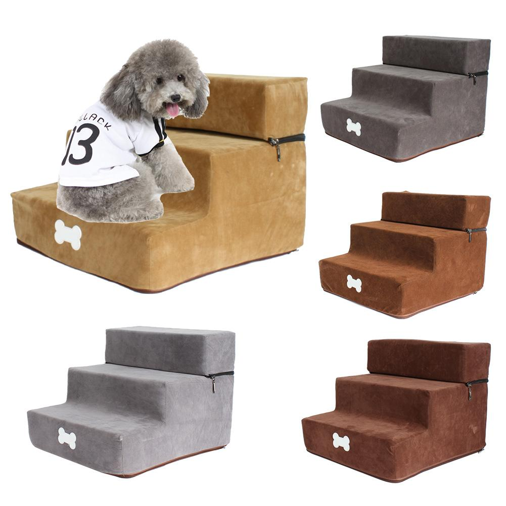 Pet Dog Stairs 3 Steps Ladder House For Small Dog Cat Puppy Cat Pet Stairs Anti-slip Removable Puppy Dogs Bed Stairs Pet Supplie