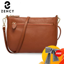 Zancy – sac à bandoulière en cuir véritable pour femmes, 100%, sac à main marron, petits sacs à rabat simples, sacoche à épaule