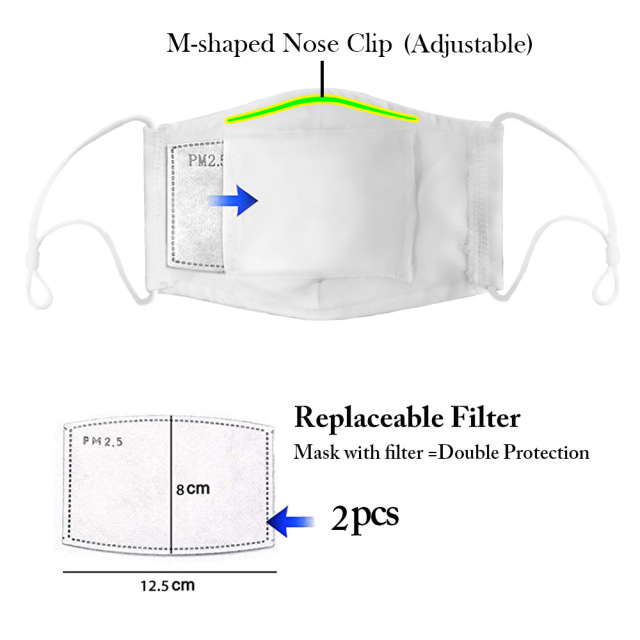 fashion creative Masque reusable masks unisex party sports safe  breathable  Filter Bacteria Proof Flu Anti Dust Mouth Muffle 1