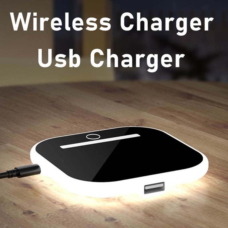 Universal <font><b>10W</b></font> Qi Fast Wireless <font><b>Charger</b></font> Led <font><b>USB</b></font> Quick <font><b>Charger</b></font> For Iphone XS 8 XR 11 Pro Max Samsung S20 S10 S9 S8 Plus Xiaomi Mi9 image