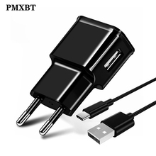 USB Charger EU/US Plug 5V/2A Fast Charging With Type C Cable For Samsung Galaxy S10 S8 S9 plus Note 8 Phone Adapter Travel Wall 5v 4a mobile phone charger eu travel wall power adapter for samsung galaxy xiaomi redmi iphone 7 8 8 plus charging cable plug