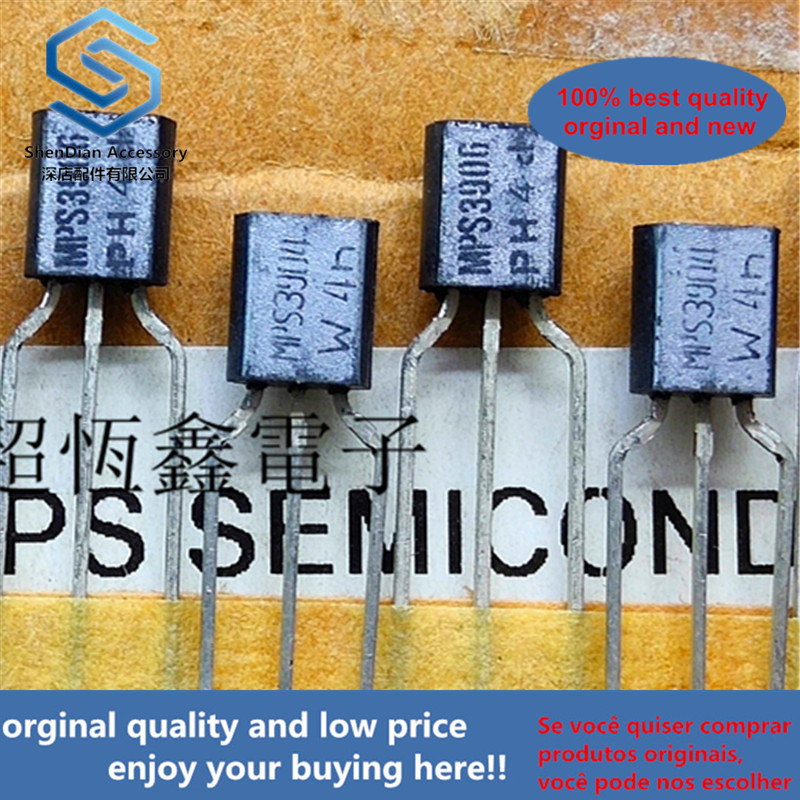 10pcs 100% Orginal New MPS3904 MPS3906 3904/3906 Braided Silver Real Photo