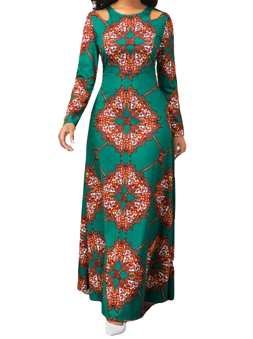African Dashiki Dress Print Maxi Dresses Ethnic Muslim Abaya Bazin Robe Gowns Africa Long Riche Lady Traditional Hipster Islamic