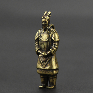 1:72 Scale Alloy Die-casting Model Retro Terracotta Doll Collection Ornaments Pendant Handmade Creative Model Toys