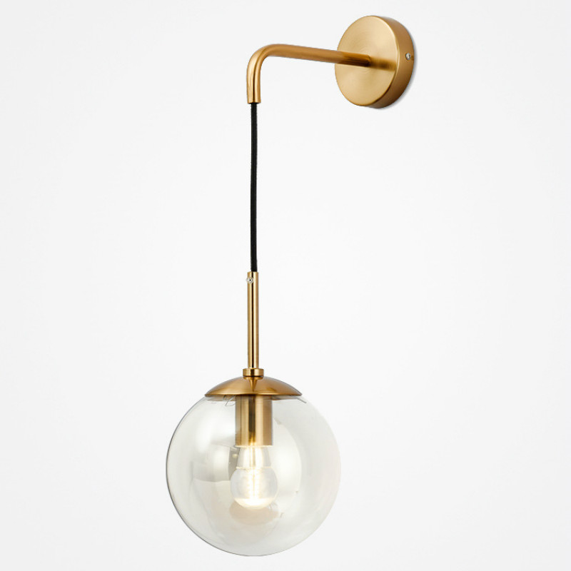 Nordic Style LED Wall Lamps Glass Ball Wall lights Retro Simple Bedside Living Room Corridor Staircase Lighting Decorative Lamps