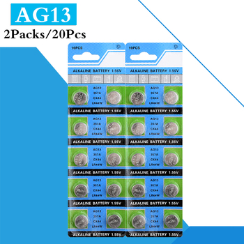 20Pcs AG13 1.5V Alkaline Button Battery LR44 L1154 RW82 RW42 SR1154 SP76 A76 357A pila lr44 SR44 AG 13 Cell Coin Battery For Toy image