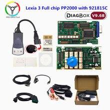 Golden lexia 3 completo chip pp2000 diagbox v7.83 com 921815c para citroen para peugeot ferramenta de diagnóstico lexia3 completo chip scanner automático