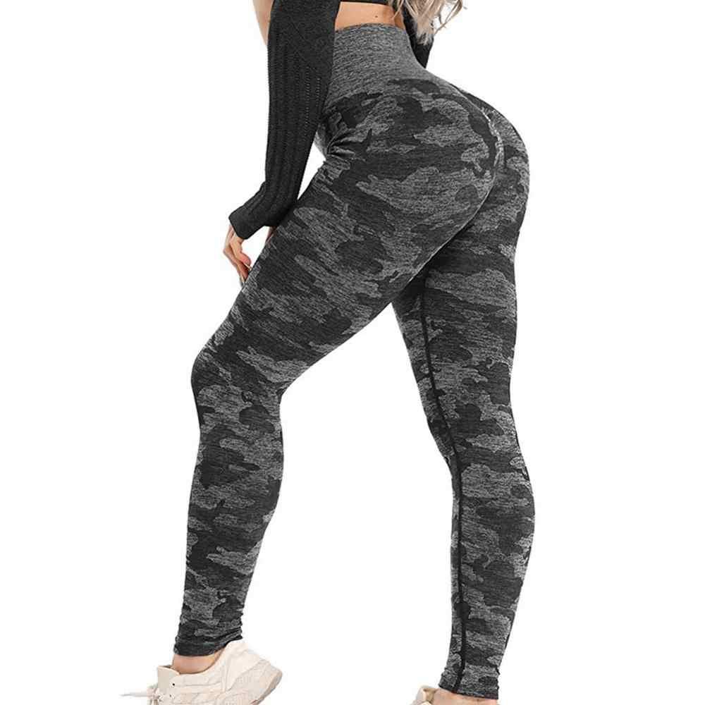 SWOLF wysokiej talii legginsy treningowe dla kobiet siłownia joga spodnie Shark Camo bezszwowe legginsy