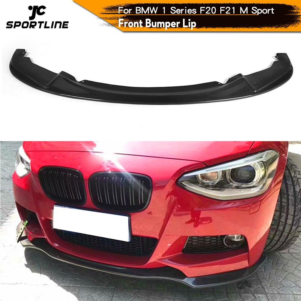 Répartiteurs de lèvre de pare-chocs avant Spoiler pour BMW série 1 F20 F21 M135i M Sport hayon 2011 - 2014 lèvre avant fibre de carbone/FRP