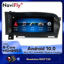 8Core 4G RAM 64G ROM 10.25inch Android 10.0 Car Multimedia Video Player Navigation GPS for Mercedes Benz S-Class W221 2006-2013
