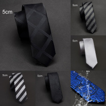 Ricnais Новое поступление 5 см тонкие галстуки для мужчин синий черный Стеганный водонепроницаемый Галстук Пейсли Мода для мужчин Для худой шеи галстук для свадьбы