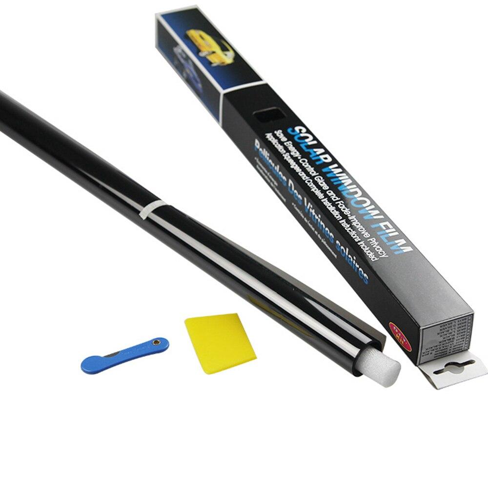 75 Cm X 3.0M 1% 5% 25% 50% Mobil Aksesoris Auto Rumah Kaca Warna Jendela Pewarnaan Film Roll Scraper atap Mobil Jendela Tint Film Kaca