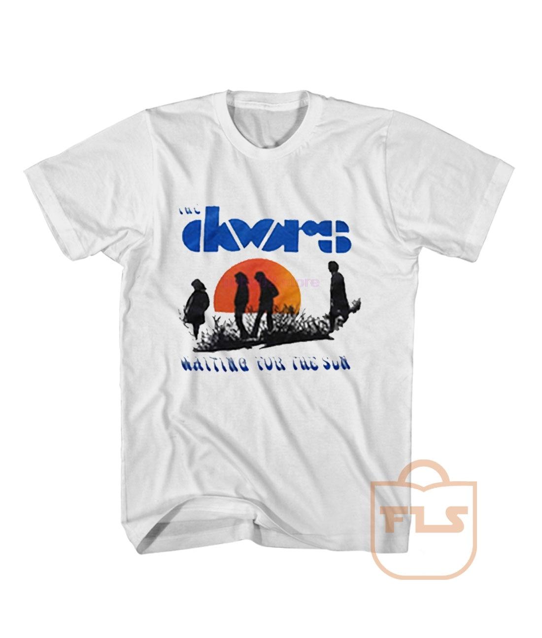 Phiking Doors Waiting For The Sun T Shirt Men's 2019 Summer Style Brand Apparel Casual Men's T-shirt