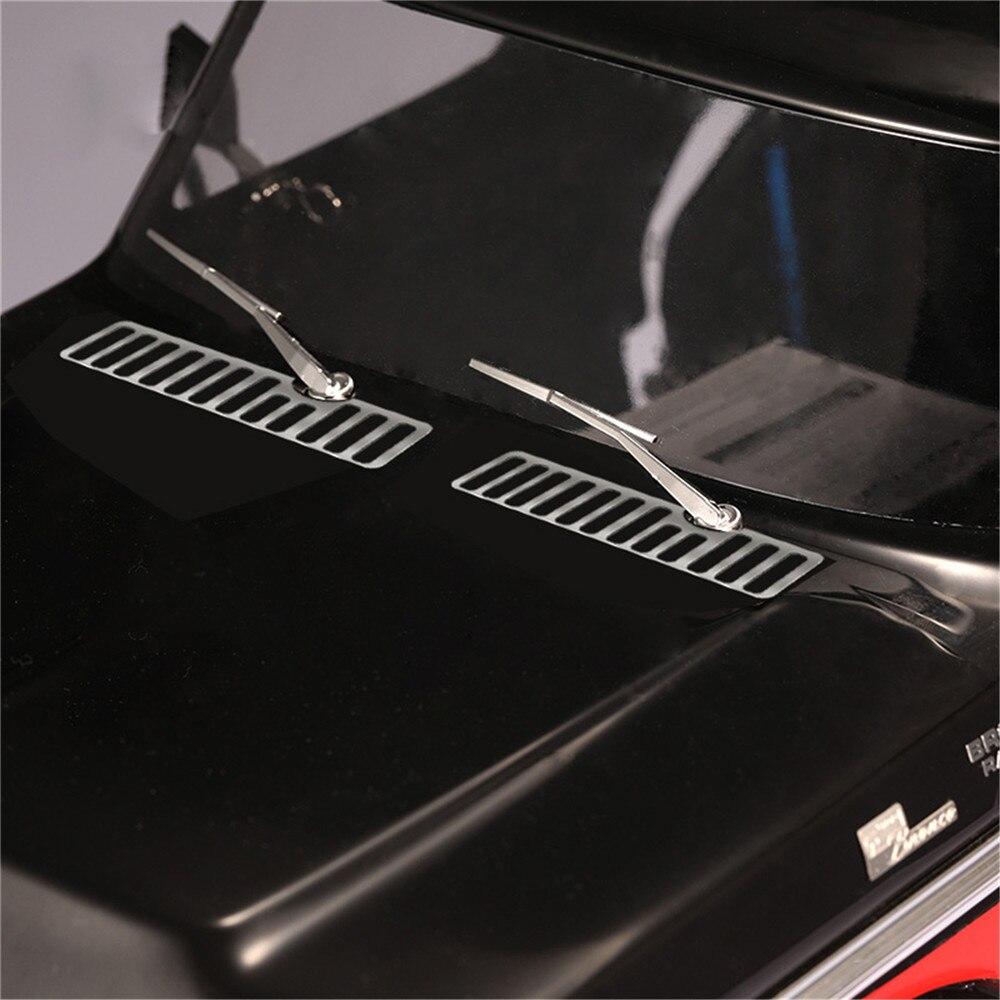 Pour DJ Traxxas TRX4 Ford Bronco Métal Engine Hood Vent Grille Grill Capot Cover