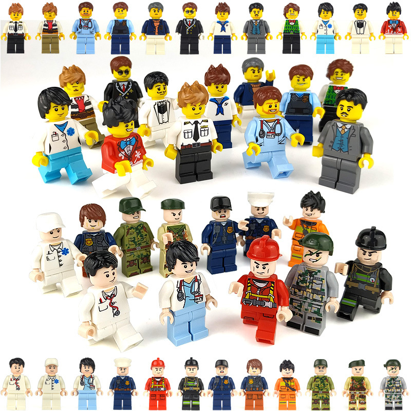 12pcs Compatible Legoing Friends Figurines Set Toys For Baby Girls 2020 New Legoings City Police Figures Boys Toys For Children