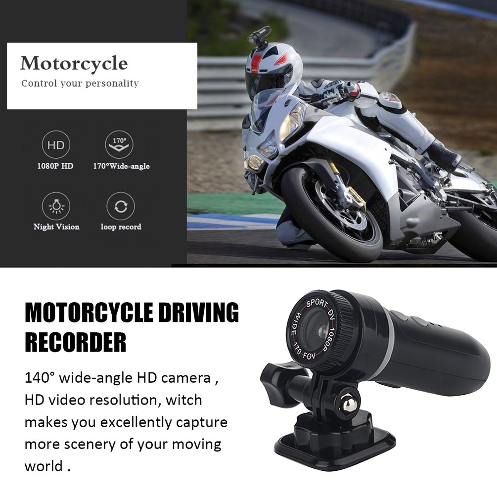 T01 Bike Motorcycle Recorder Hd 1080P Sport Action Camera Video Dvr Dv Camcorder Motorcycle Accessories