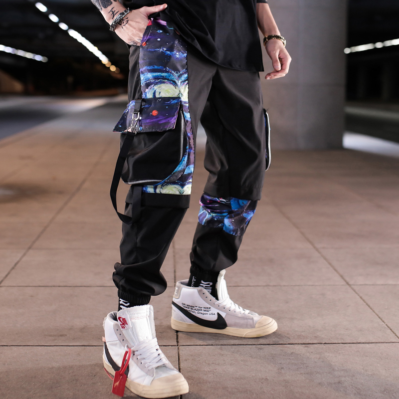 Men Multi-pocket Harem Hip Hop Pants Trousers Streetwear Sweatpants Hombre Male Casual Fashion 2020 Cargo Pants Men Jogger Pants