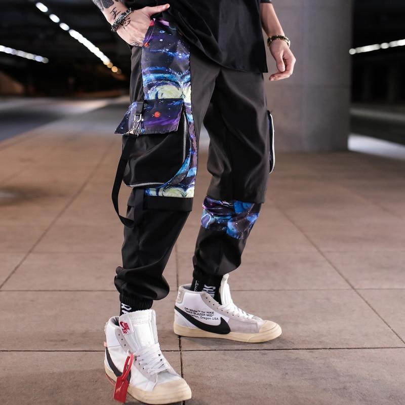 Men Multi-pocket Harem Hip Hop Pants Trousers Streetwear Sweatpants Hombre Male Casual Fashion 2020 Cargo Pants Men Jogger Pants