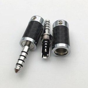 Image 3 - 4Pcs โรเดียมชุบ 3.5 มม./4.4 มม.3 5 Pole ปลั๊กหูฟังสเตอริโอคาร์บอนไฟเบอร์ชุดหูฟัง HiFi Audio DIY แจ็คเชื่อมต่อ