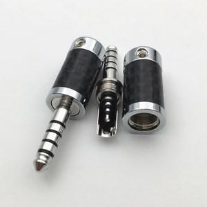 Image 3 - 4Pcs Rhodium Plated 3.5mm / 4.4mm 3 5 Pole Stereo Earphone Plug Carbon Fiber HiFi Headset  Audio DIY Jack Solder Connector