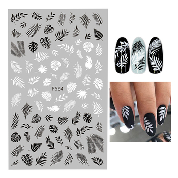 1PC Nail Sticker Geometric Love-Letters Leaf Flower Snowflake Nail Art Decal Manicure Decorations 1