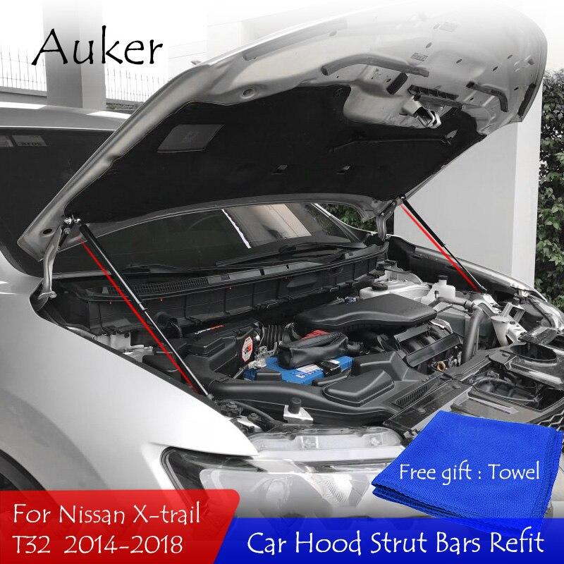 Установка на капот автомобиля, газовый подъемник, стойки, опорные стержни для Nissan X TRAIL 2014 2018 T32, автостайлинг|Хромирование| | АлиЭкспресс