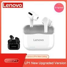 Lenovo Neue LP1S TWS Drahtlose Kopfhörer Bluetooth Verbesserte Version 5,0 Dual Stereo Touch Control 300mAH سماعة Fone de Ouvido LP1 S